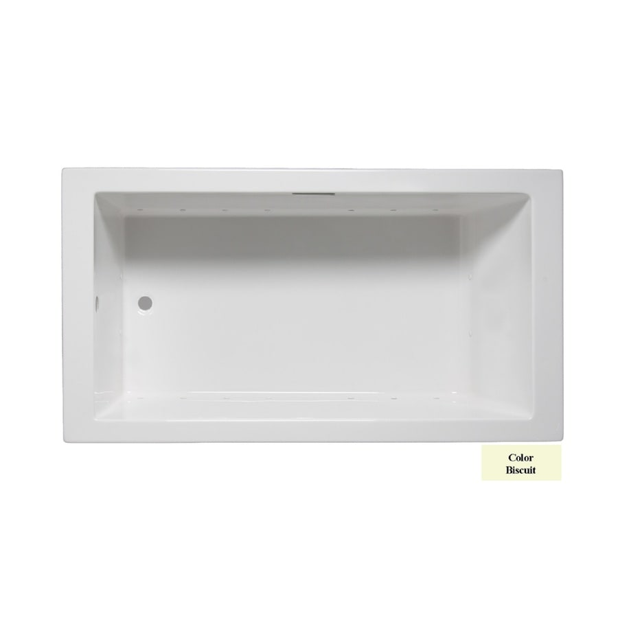 Laurel Mountain Parker V 60-in L x 36-in W x 22-in H Biscuit Acrylic 1-Person-Person Rectangular Drop-in Air Bath
