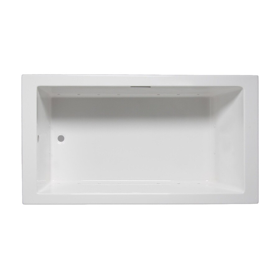 Laurel Mountain Parker Vi 66-in L x 36-in W x 22-in H White Acrylic 1-Person-Person Rectangular Drop-in Air Bath
