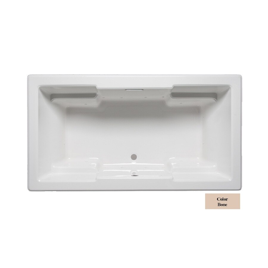 Laurel Mountain Reading 72-in L x 42-in W x 22-in H Almond Acrylic 2-Person-Person Rectangular Drop-in Air Bath