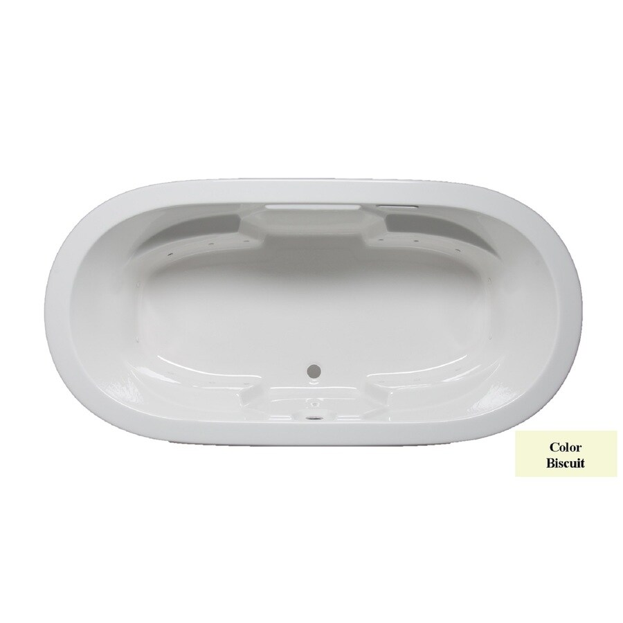 Laurel Mountain Warren 72-in L x 36-in W x 22-in H Biscuit Acrylic 2-Person-Person Oval Drop-in Air Bath