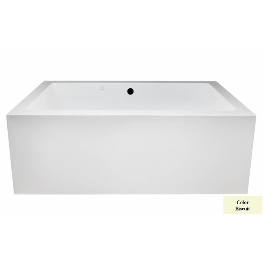 Laurel Mountain Berks I 66-in L x 40-in W x 23-in H 2-Person Biscuit Acrylic Rectangular Whirlpool Tub and Air Bath