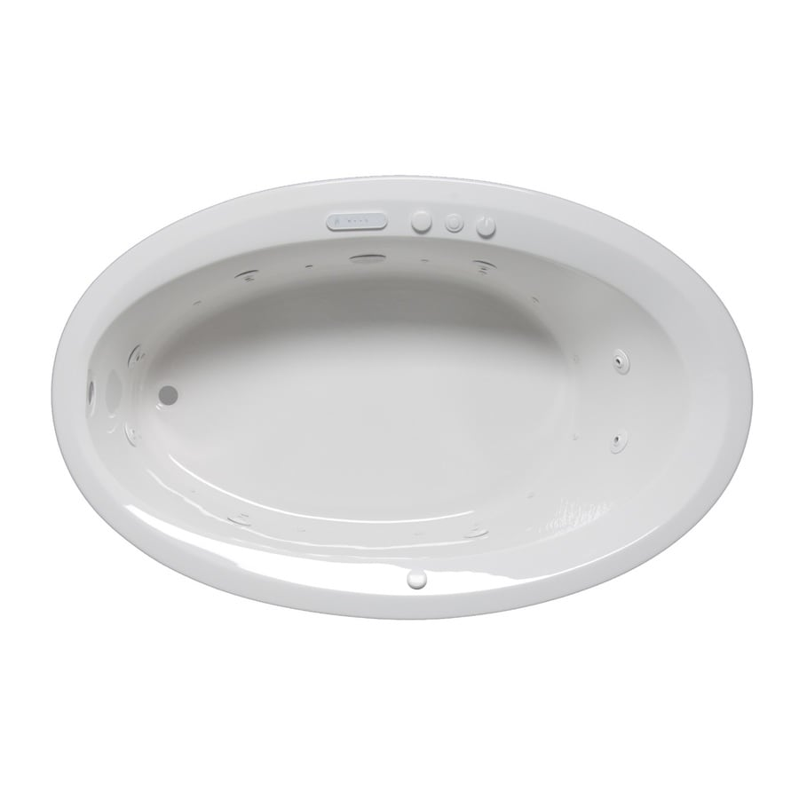 Laurel Mountain Corry Iii 66-in L x 42-in W x 22-in H 1-Person White Acrylic Oval Whirlpool Tub and Air Bath