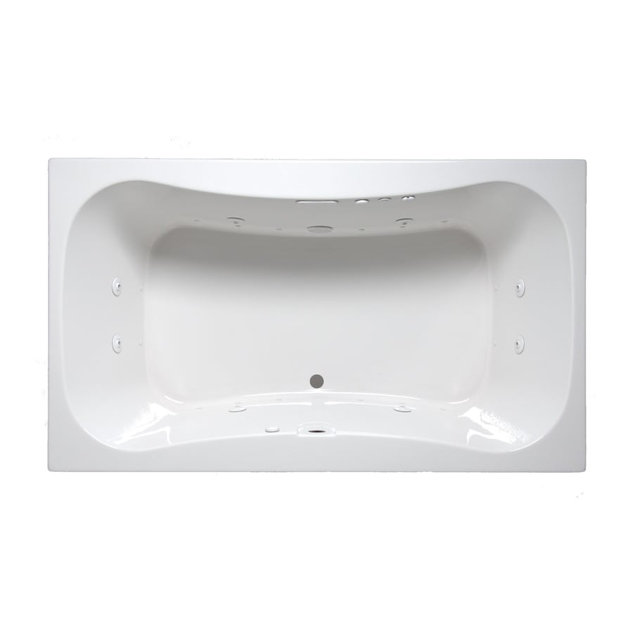 Laurel Mountain Masten Ii 72-in L x 42-in W x 24-in H 2-Person White Acrylic Hourglass In Rectangle Whirlpool Tub and Air Bath