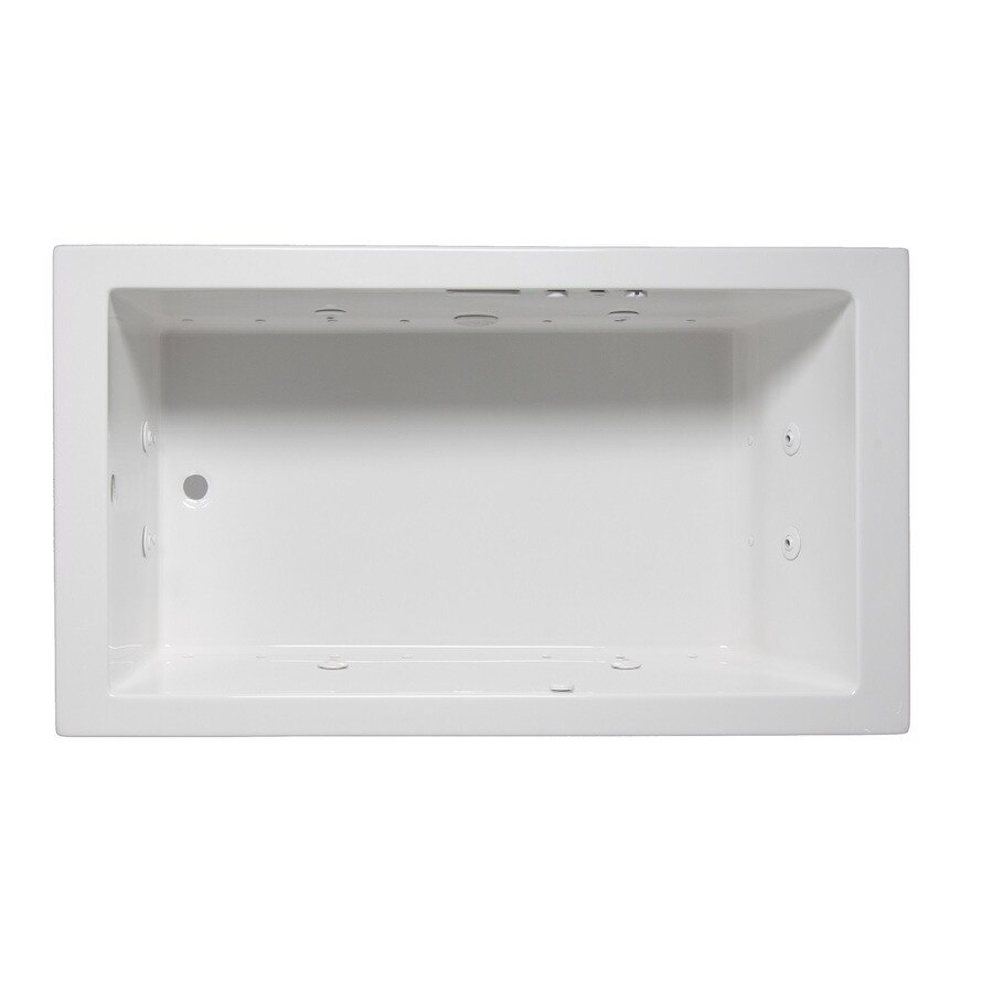 Laurel Mountain Parker Iv 72-in L x 32-in W x 22-in H 1-Person White Acrylic Rectangular Whirlpool Tub and Air Bath