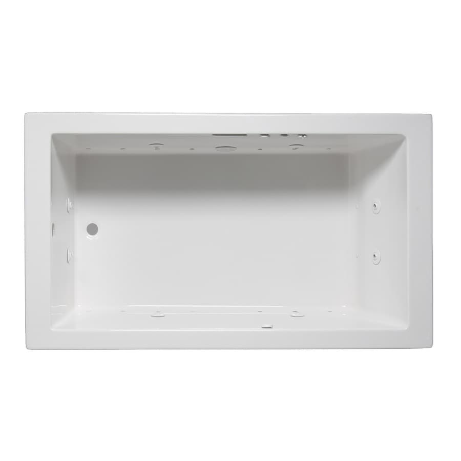 Laurel Mountain Parker Vii 72-in L x 36-in W x 22-in H 1-Person White Acrylic Rectangular Whirlpool Tub and Air Bath