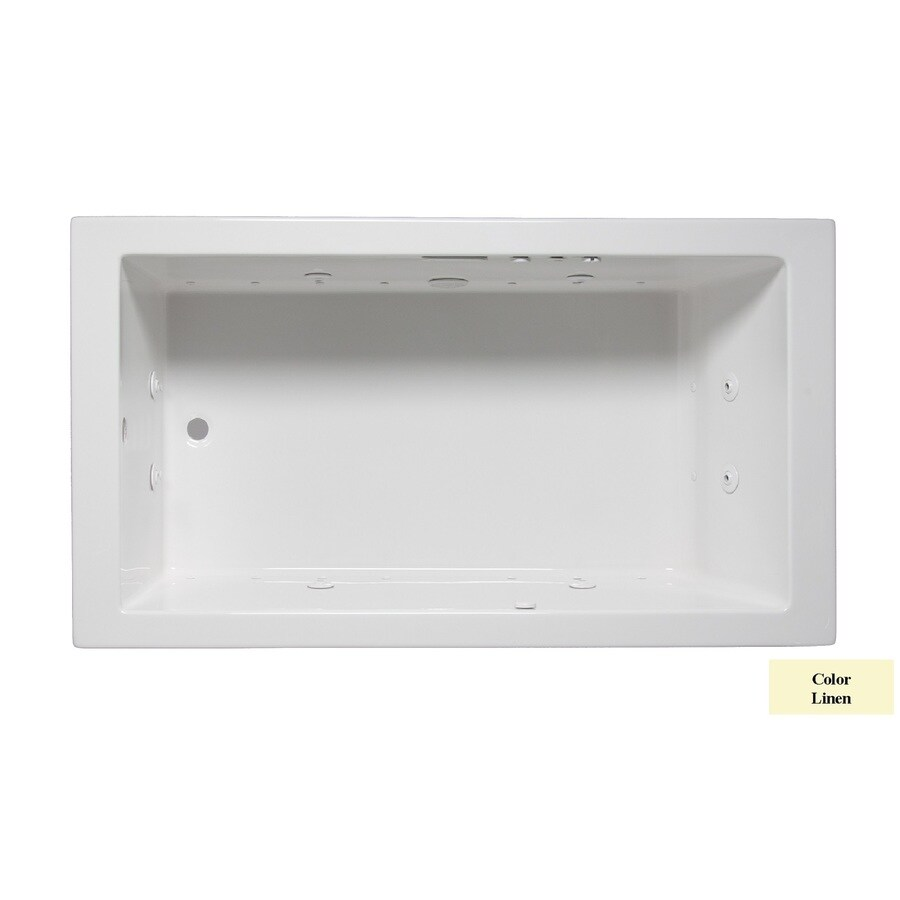 Laurel Mountain Parker Vii 72-in L x 36-in W x 22-in H 1-Person Linen Acrylic Rectangular Whirlpool Tub and Air Bath
