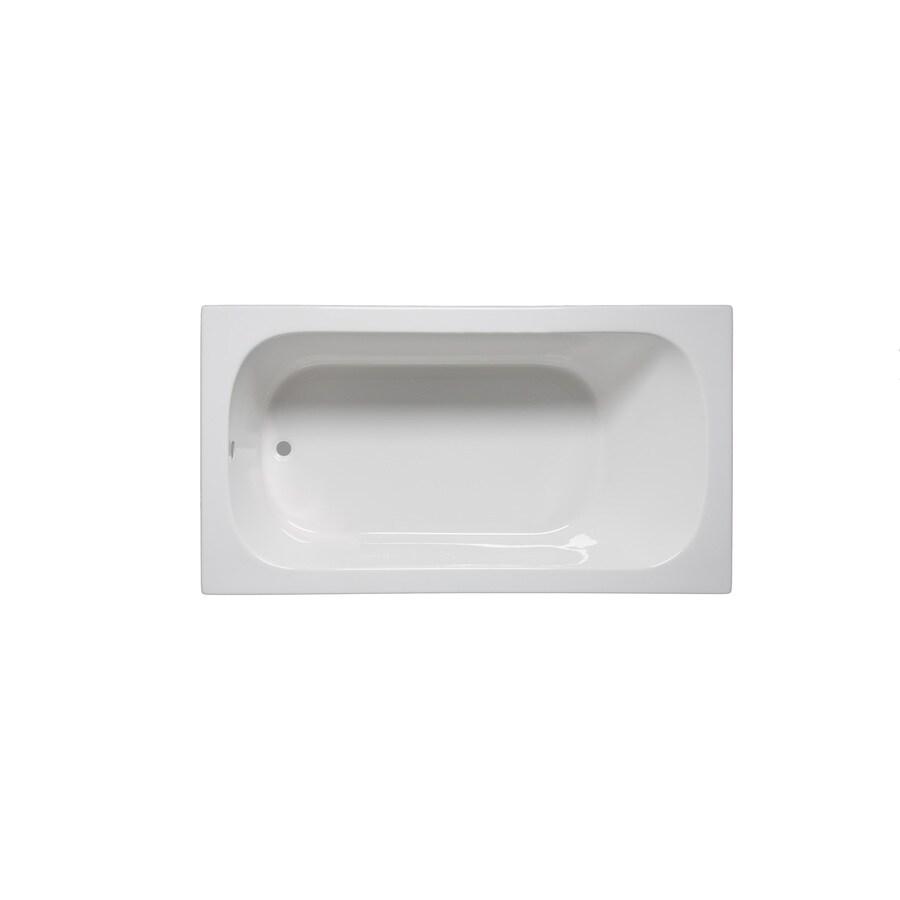Laurel Mountain Butler Iii White Acrylic Rectangular Drop-in Bathtub with Reversible Drain (Common: 36-in x 66-in; Actual: 22-in x 36-in x 66-in