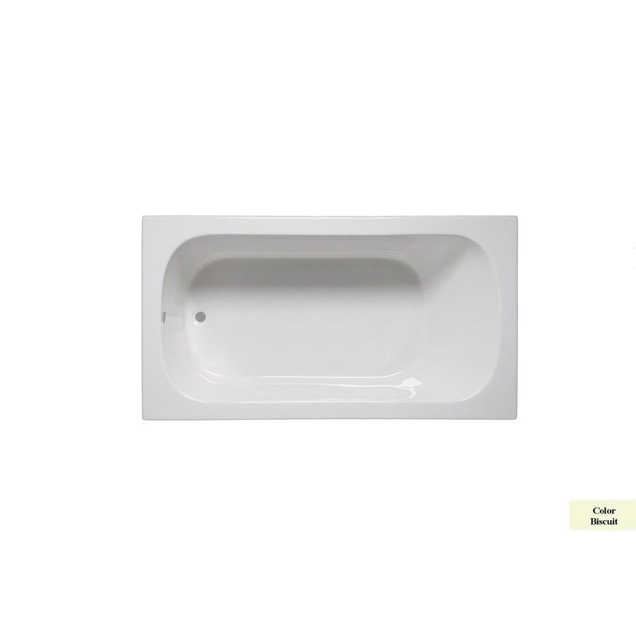 Laurel Mountain Butler Iv Biscuit Acrylic Rectangular Drop-in Bathtub with Reversible Drain (Common: 36-in x 72-in; Actual: 22-in x 36-in x 72-in