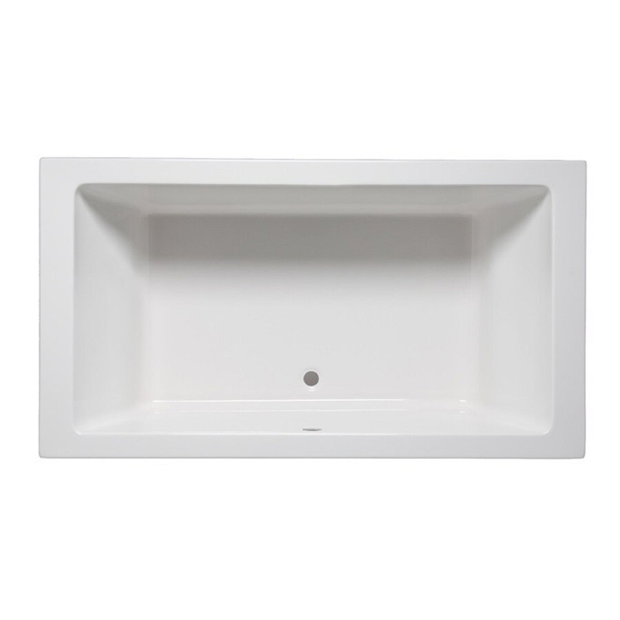 Laurel Mountain Farrell III White Acrylic Rectangular Drop-in Bathtub with Center Drain (Common: 42-in x 66-in; Actual: 22-in x 42-in x 66-in)