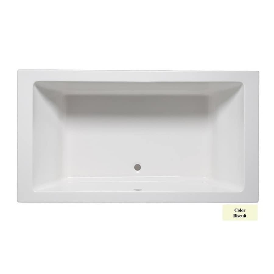 Laurel Mountain Farrell Iii Biscuit Acrylic Rectangular Drop-in Bathtub with Front Center Drain (Common: 42-in x 66-in; Actual: 22-in x 42-in x 66-in