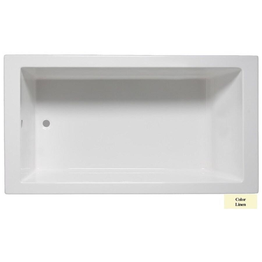 Laurel Mountain Parker Iv Linen Acrylic Rectangular Drop-in Bathtub with Reversible Drain (Common: 32-in x 72-in; Actual: 22-in x 32-in x 72-in