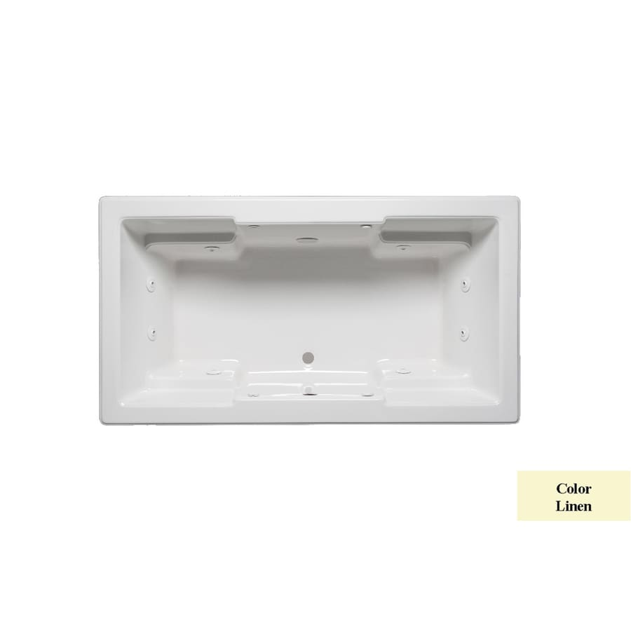 Laurel Mountain Reading V Acrylic Rectangular Drop-in Bathtub with Center Drain (Common: 42-in x 72-in; Actual: 22-in x 42-in x 72-in)