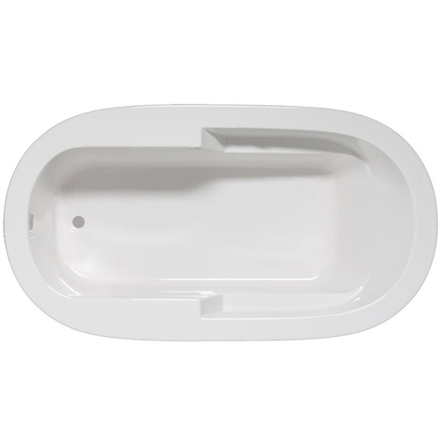 Laurel Mountain Venango White Acrylic Oval Drop-in Bathtub with Reversible Drain (Common: 42-in x 72-in; Actual: 22-in x 42-in x 72-in