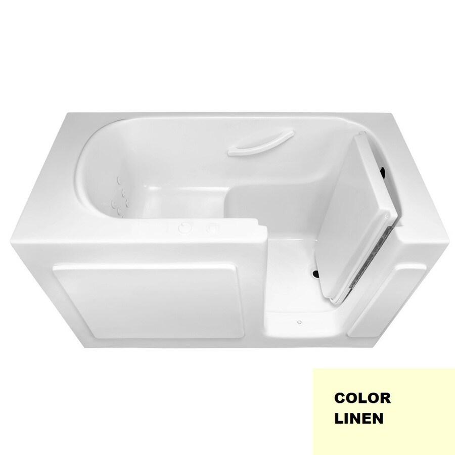 Laurel Mountain Westmont 1-Person Linen Gelcoat/Fiberglass Rectangular Walk-in Whirlpool Tub (Common: 30-in x 60-in; Actual: 38-in x 30-in x 60-in)