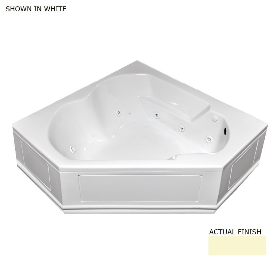 Laurel Mountain Colony 60-in L x 60-in W x 20-in H 2-Person Linen Acrylic Corner Whirlpool Tub and Air Bath
