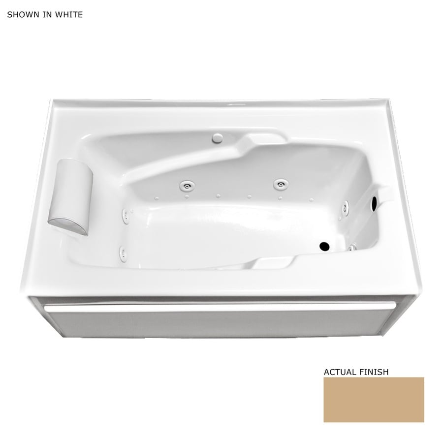 Laurel Mountain Colony 66-in L x 36-in W x 21-in H 1-Person Almond Acrylic Rectangular Whirlpool Tub and Air Bath