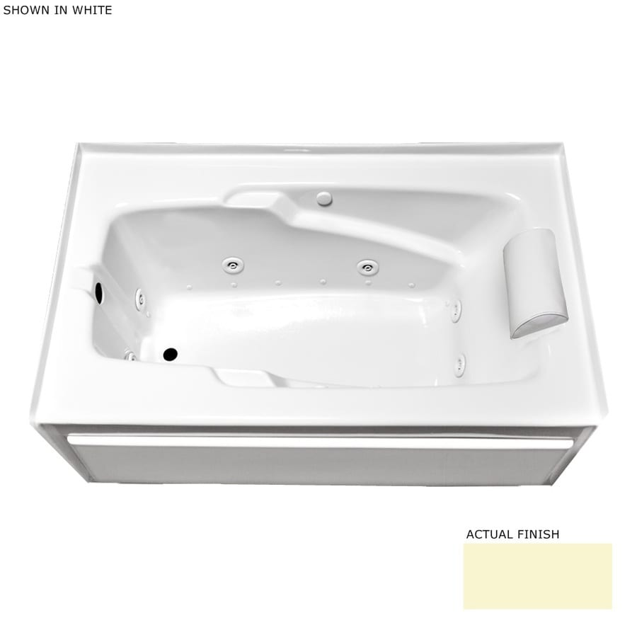Laurel Mountain Colony 66-in L x 36-in W x 21-in H 1-Person Linen Acrylic Rectangular Whirlpool Tub and Air Bath