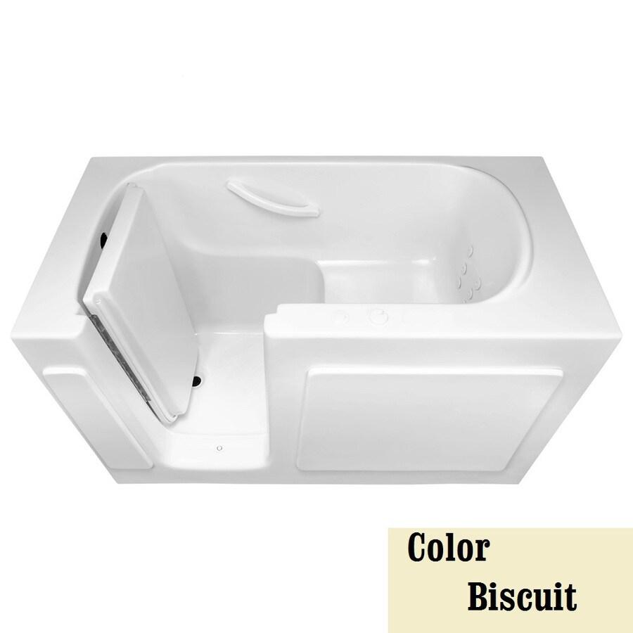 Laurel Mountain Westmont Alcove or Corner 1-Person Biscuit Gelcoat/Fiberglass Rectangular Walk-in Whirlpool Tub (Common: 30-in x 54-in; Actual: 38-in x 30-in x 54-in)