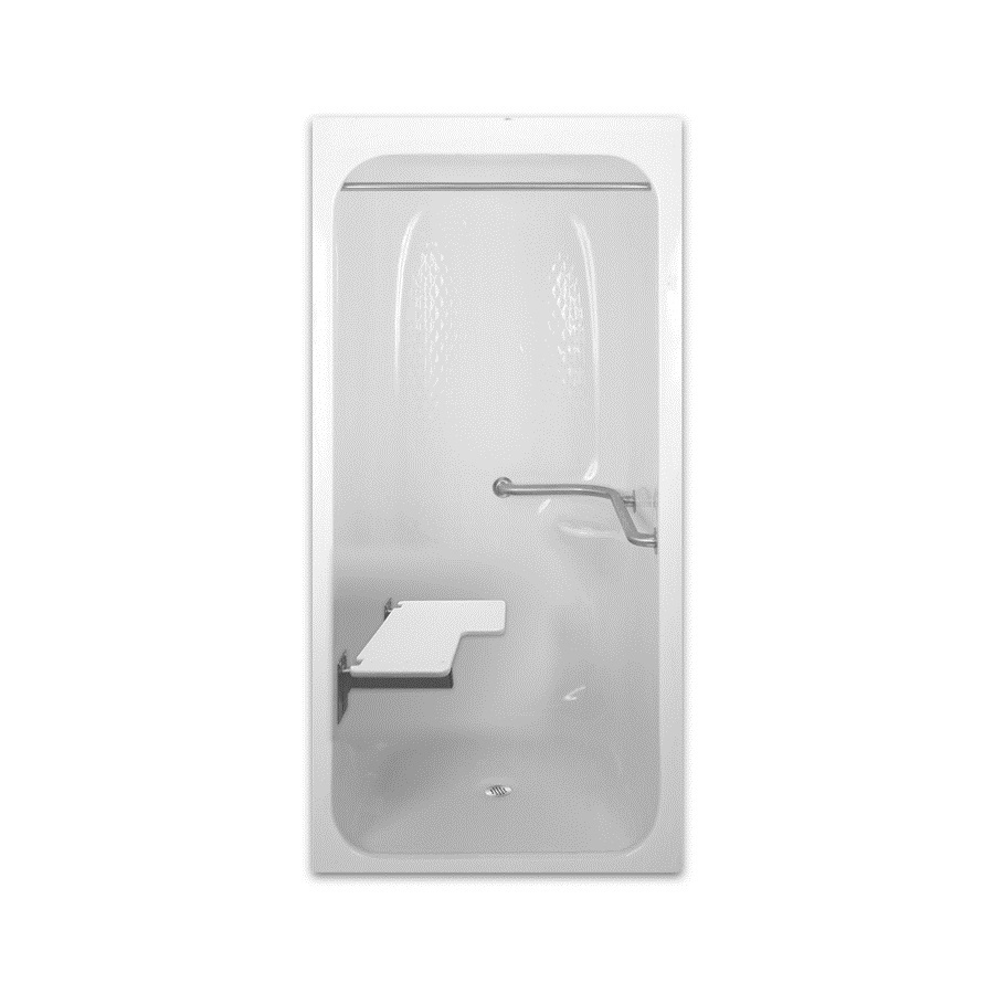 Laurel Mountain Selmer Low Zero Threshold Barrier Free White Acrylic One-Piece Shower (Common: 36-in x 40-in; Actual: 82.875-in x 36.25-in x 41.25-in)