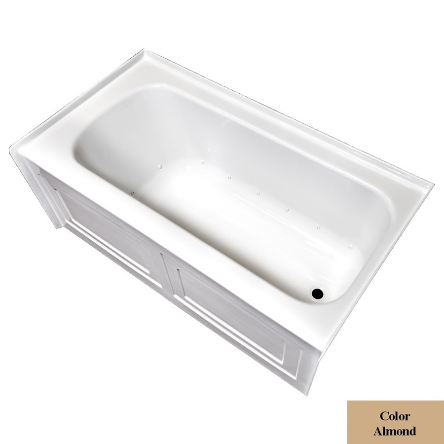 Laurel Mountain Fairhaven Vi 72-in L x 36-in W x 22.5-in H Almond Acrylic 1-Person-Person Rectangular Skirted Air Bath