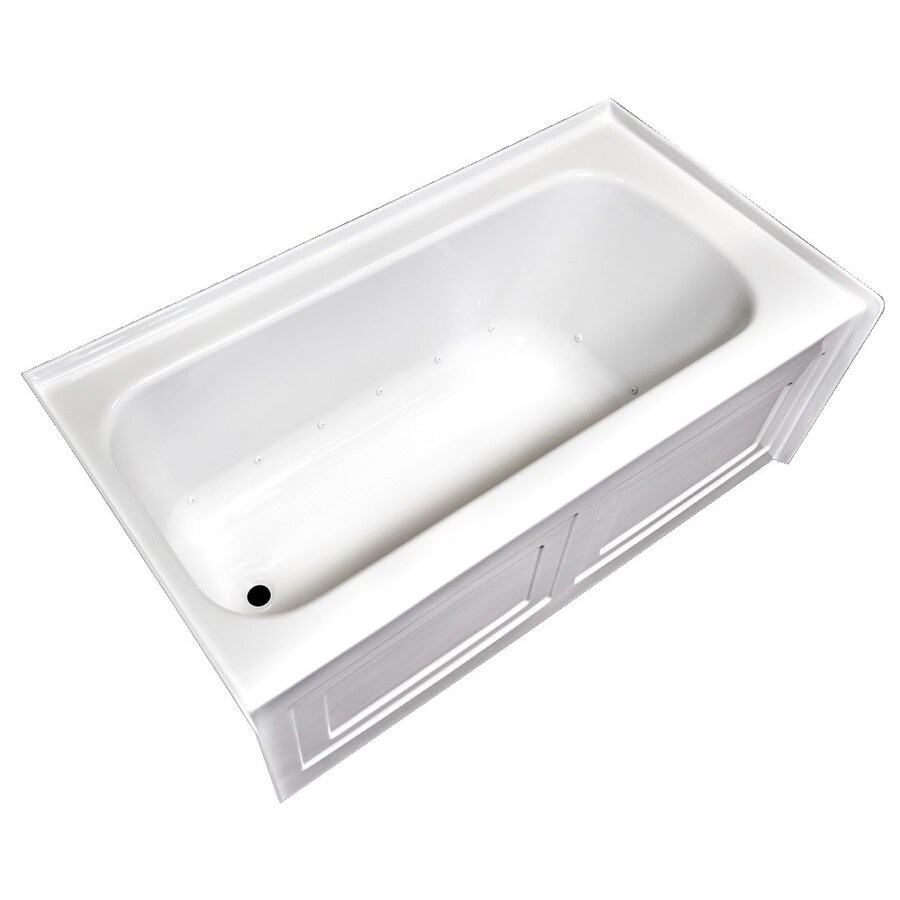 Laurel Mountain Fairhaven Vi 72-in L x 36-in W x 22.5-in H White Acrylic 1-Person-Person Rectangular Skirted Air Bath