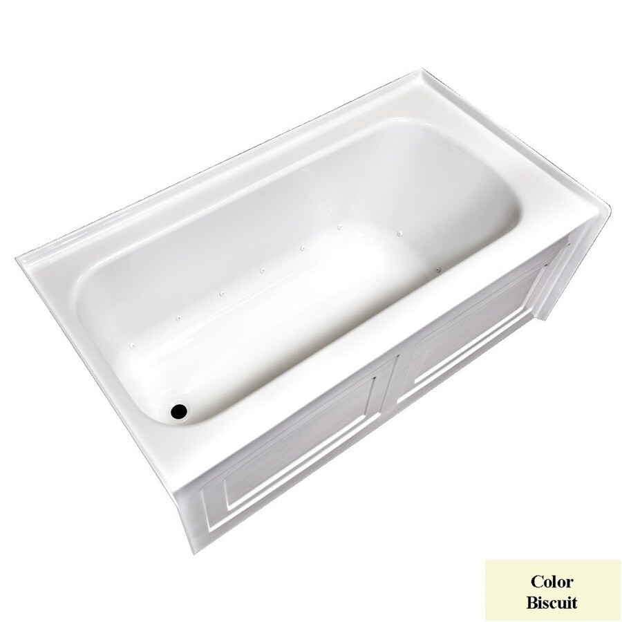 Laurel Mountain Fairhaven Vi 72-in L x 36-in W x 22.5-in H Biscuit Acrylic 1-Person-Person Rectangular Skirted Air Bath