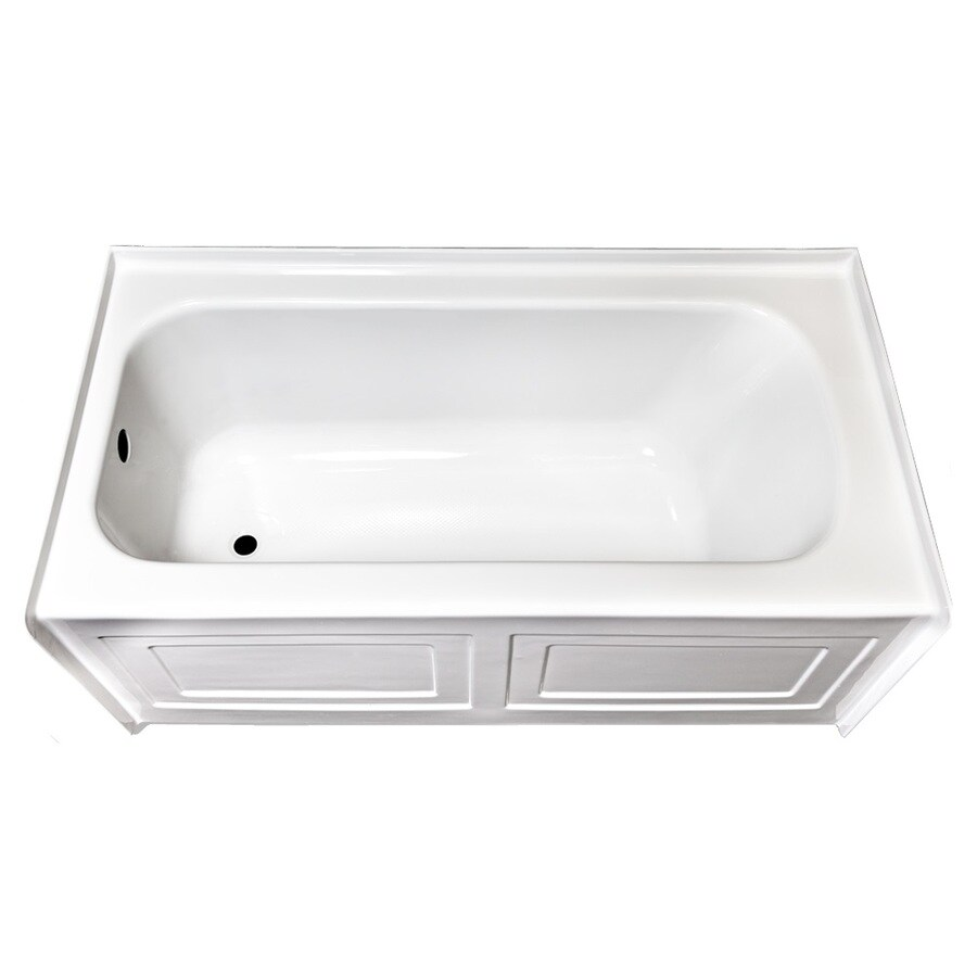 Laurel Mountain Fairhaven Vi White Acrylic Rectangular Skirted Bathtub with Left-Hand Drain (Common: 36-in x 72-in; Actual: 22.5-in x 36-in x 72-in