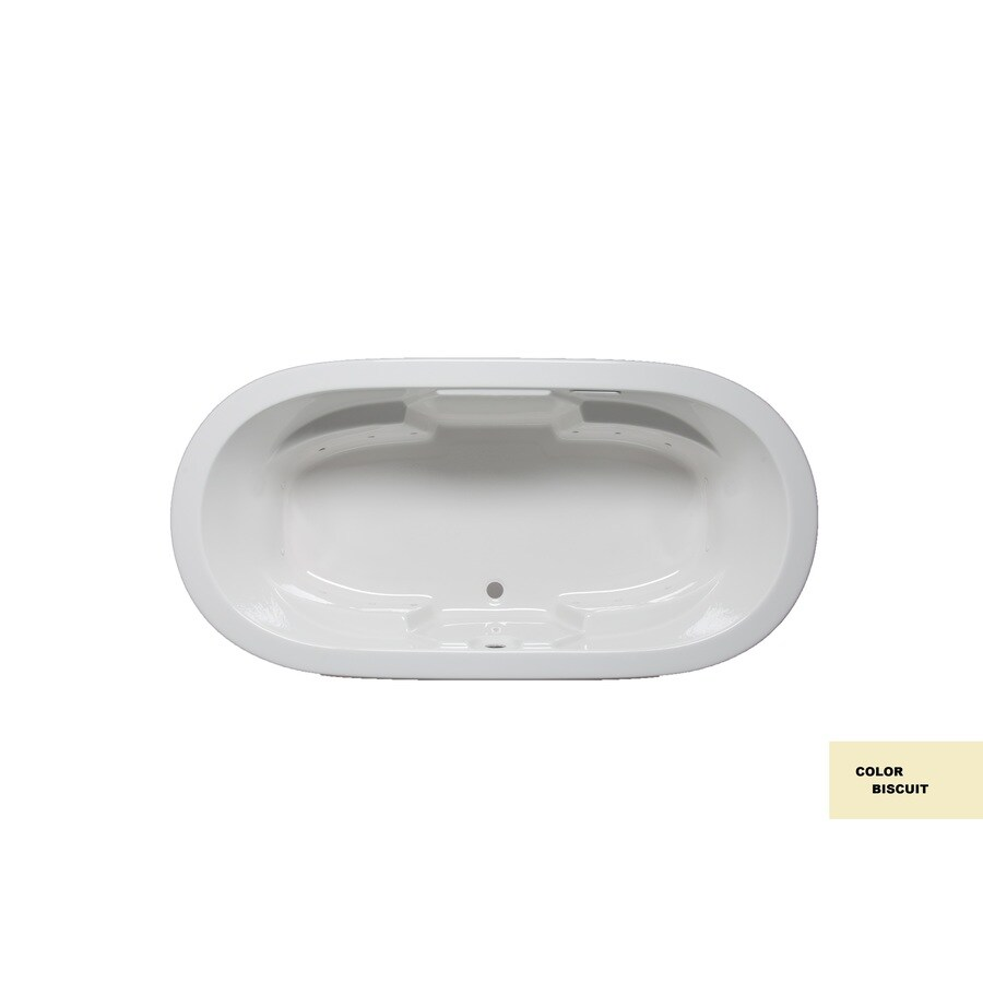 Laurel Mountain Warren I 66-in L x 44-in W x 22-in H Biscuit Acrylic 2-Person-Person Oval Drop-in Air Bath