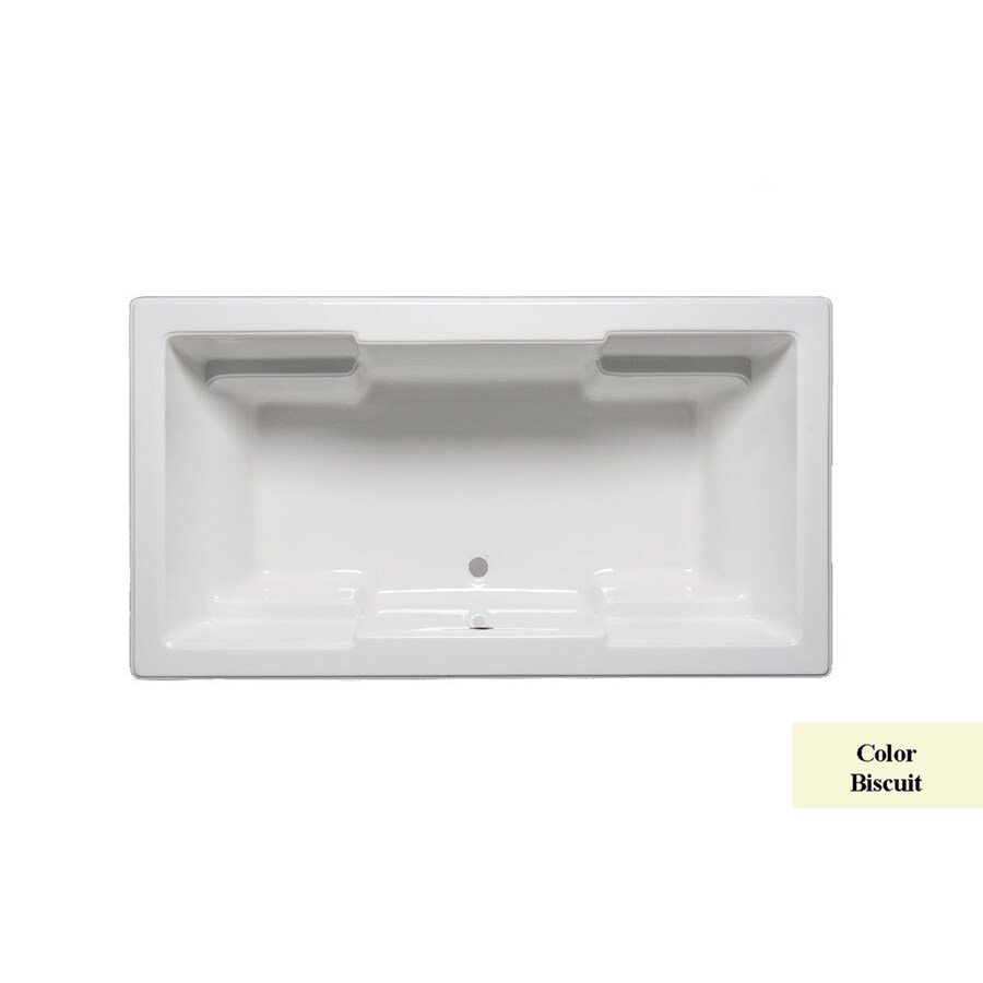 Laurel Mountain Reading Ii Biscuit Acrylic Rectangular Drop-in Bathtub with Front Center Drain (Common: 36-in x 66-in; Actual: 22-in x 36-in x 66-in