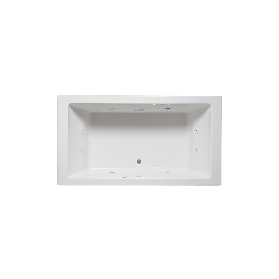 Laurel Mountain Farrell Iv 72-in L x 32-in W x 22-in H White Acrylic 2-Person-Person Rectangular Drop-in Air Bath