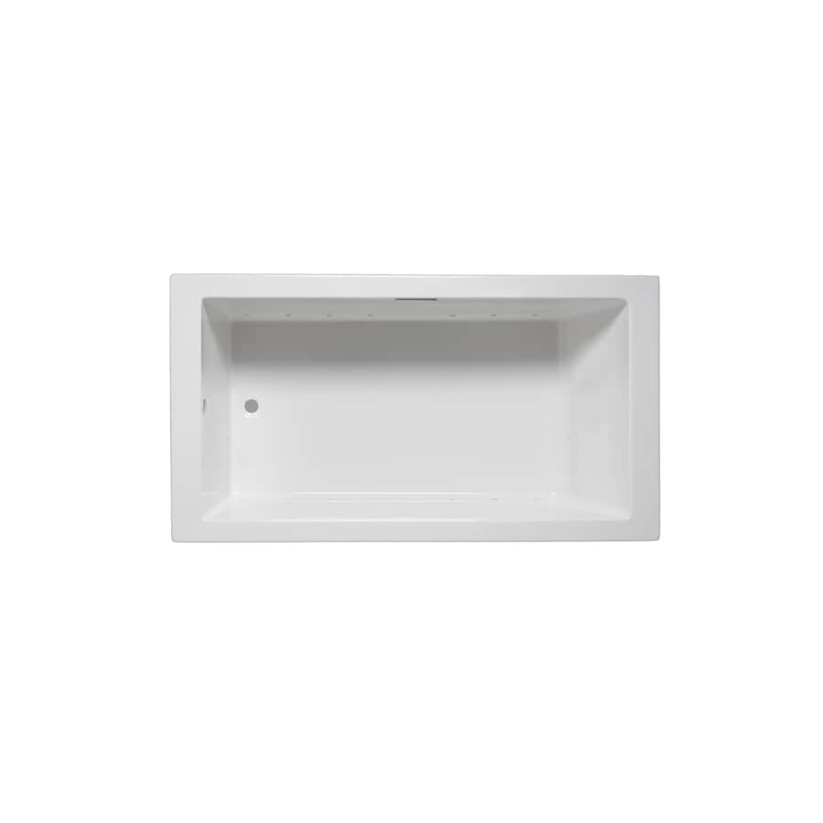 Laurel Mountain Parker Viii 72-in L x 40-in W x 22-in H White Acrylic 1-Person-Person Rectangular Drop-in Air Bath