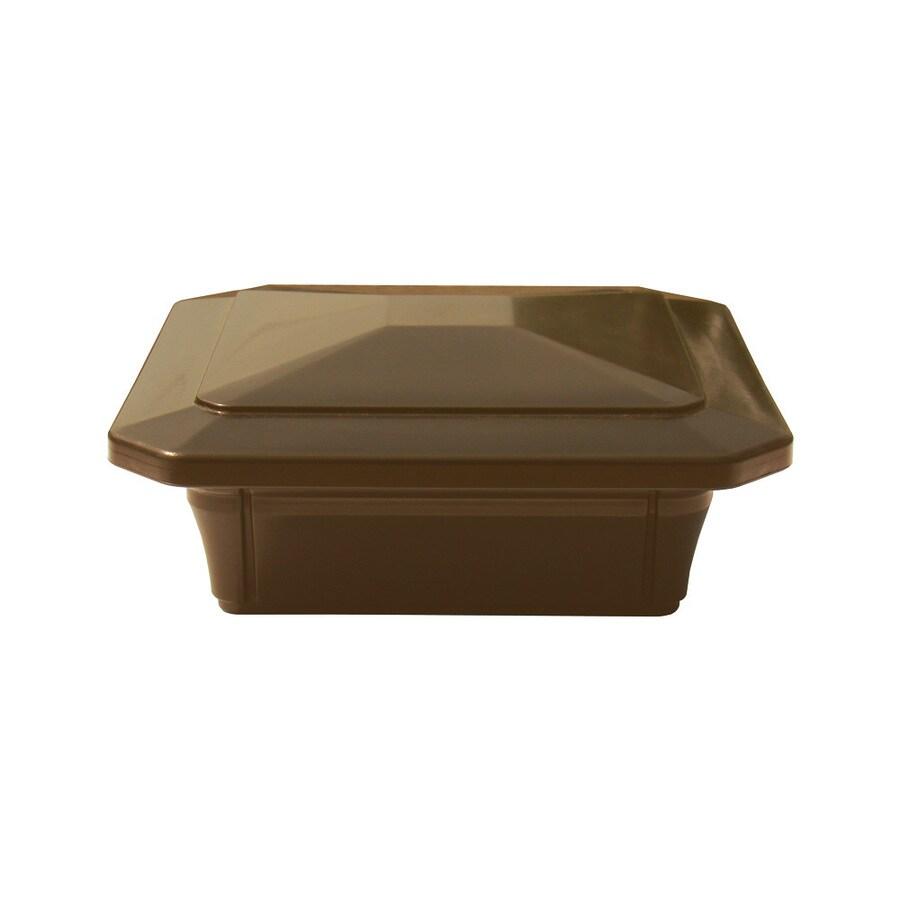 Fiberon HomeSelect Brown Composite Deck Post Cap (Fits Common Post Measurement: 4-in x 4-in; Actual: 6-in x 6-in x 6-in)