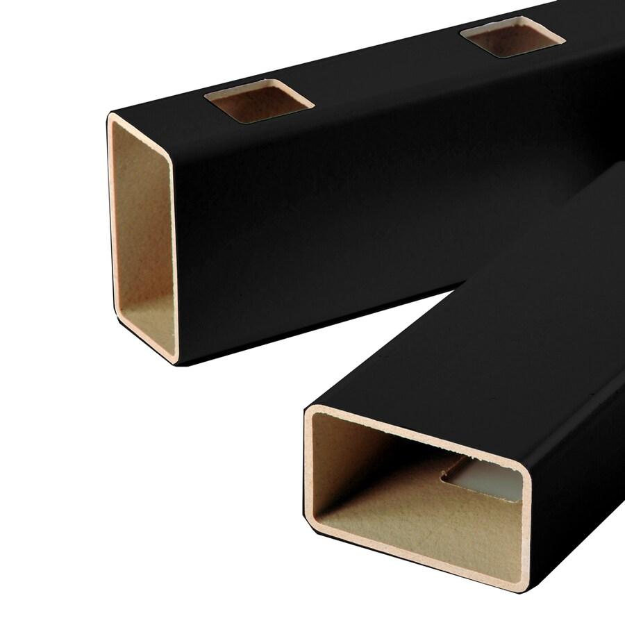 Fiberon HomeSelect 2-Pack Black Composite Deck Handrails Common: 6-ft; Actual: 3.5-in x 4-in x 6-ft)