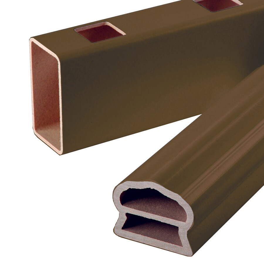 Severe Weather 3-1/2-in x 4-1/4-in x 6-ft Brown Composite Deck Railing