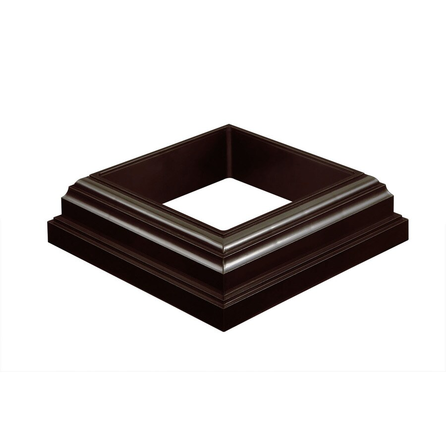 Fiberon HomeSelect Chestnut Brown PVC Deck Post Base Trim