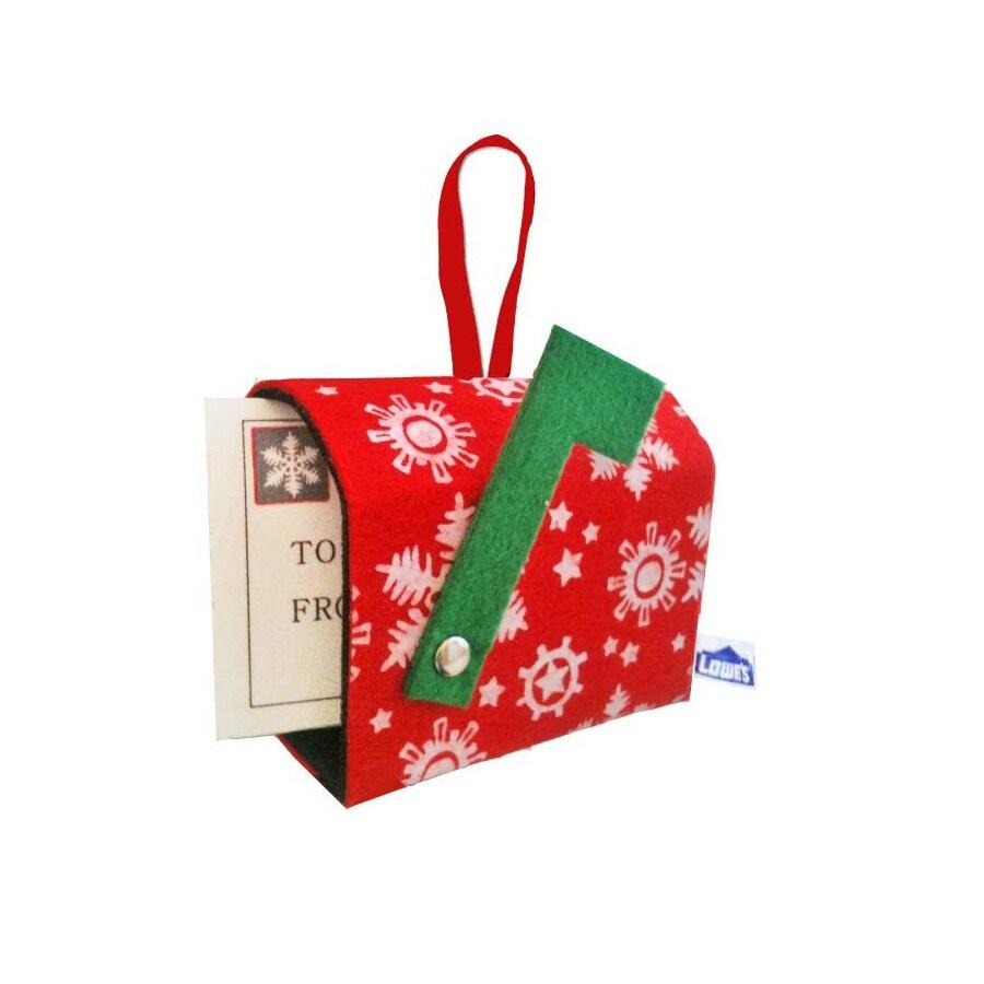 Red Felt Mailbox Gift Card Ornament