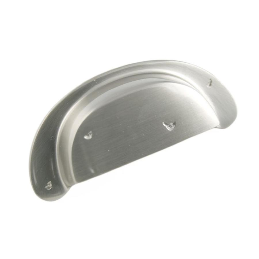 RK International 3-in Center-to-Center Satin Nickel Cup Cabinet Pull