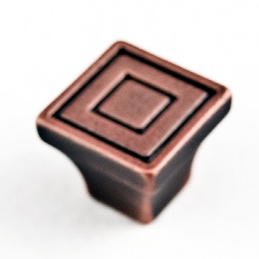 RK International Distressed Copper Square Cabinet Knob