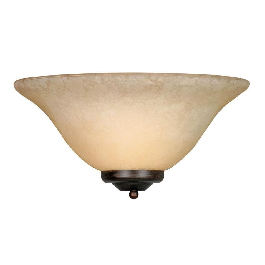 Collette 13.13-in W 1-Light Rubbed Bronze Pocket Hardwired Wall Sconce