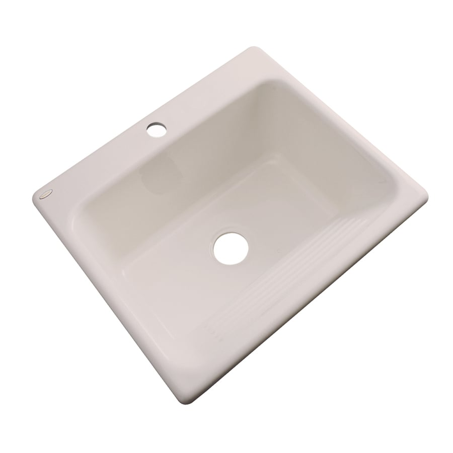 Dekor 22-in x 25-in Shell Drop-In Acrylic Laundry Utility Sink