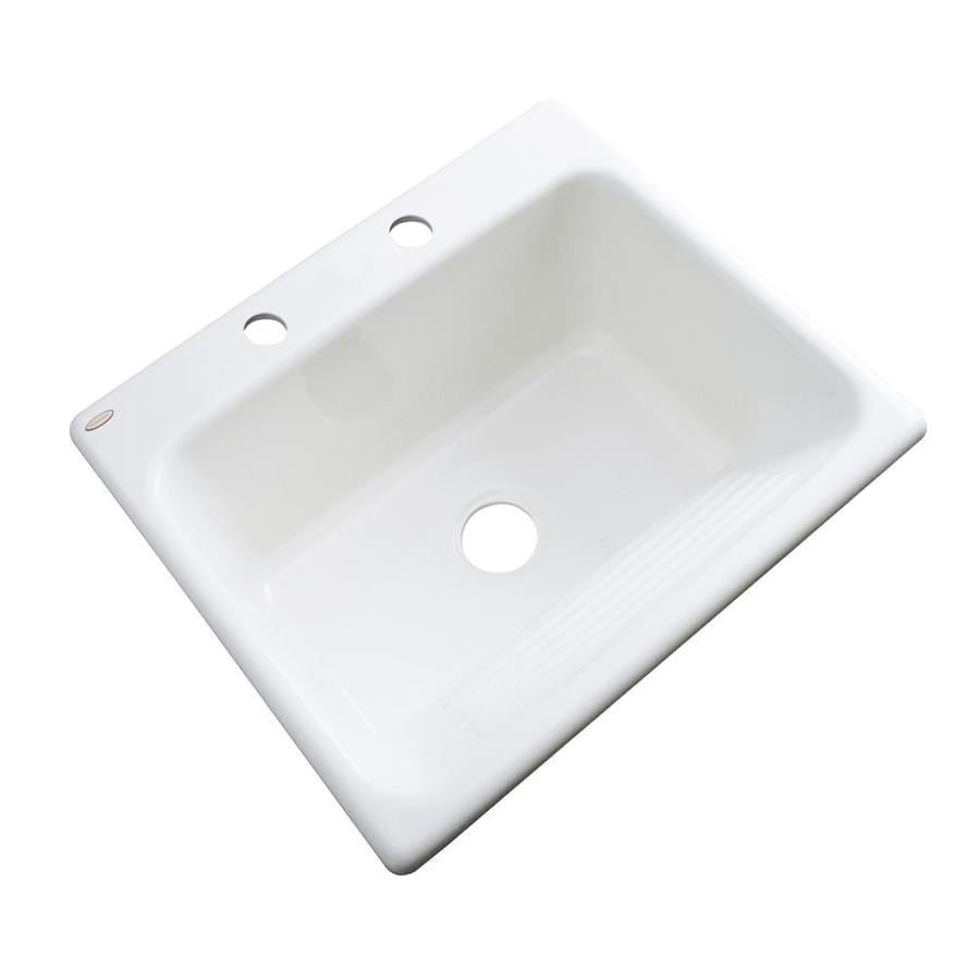 Dekor 22-in x 25-in White Drop-In Acrylic Laundry Utility Sink