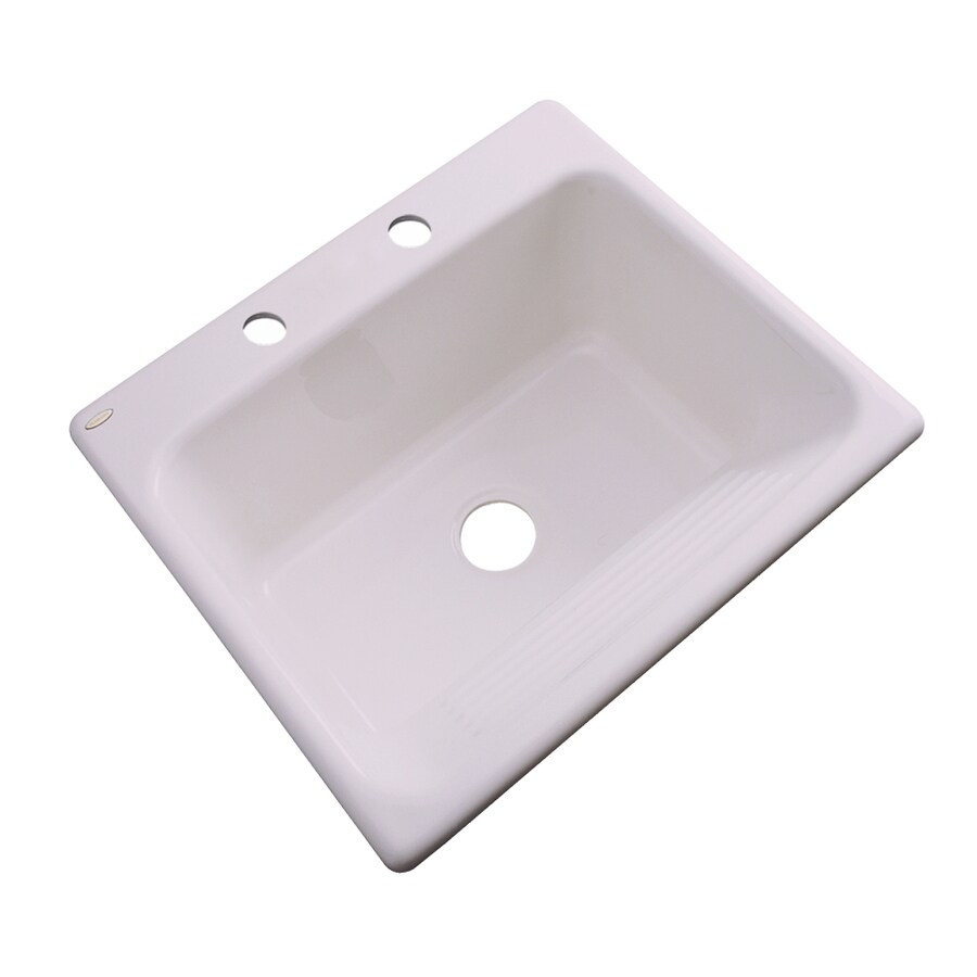 Dekor 22-in x 25-in Innocent Blush Drop-In Acrylic Laundry Utility Sink