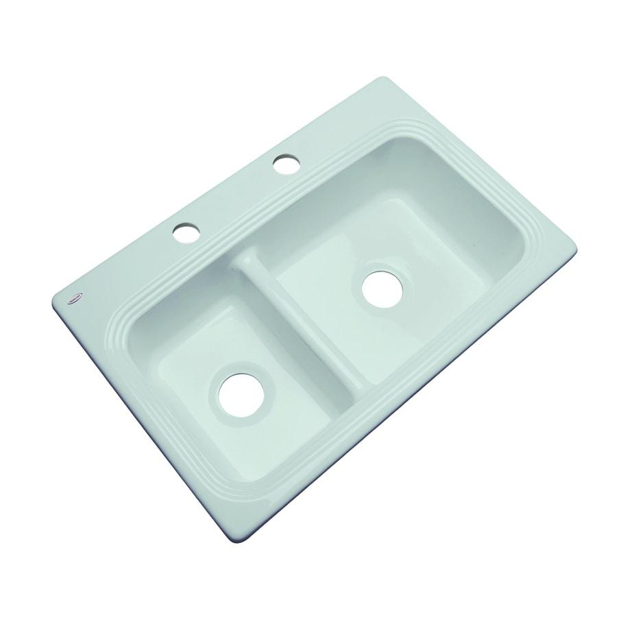 Acrylic Kitchen Sinks : ... Seafoam Double-Basin Acrylic Drop-in 2-Hole Residential Kitchen Sink