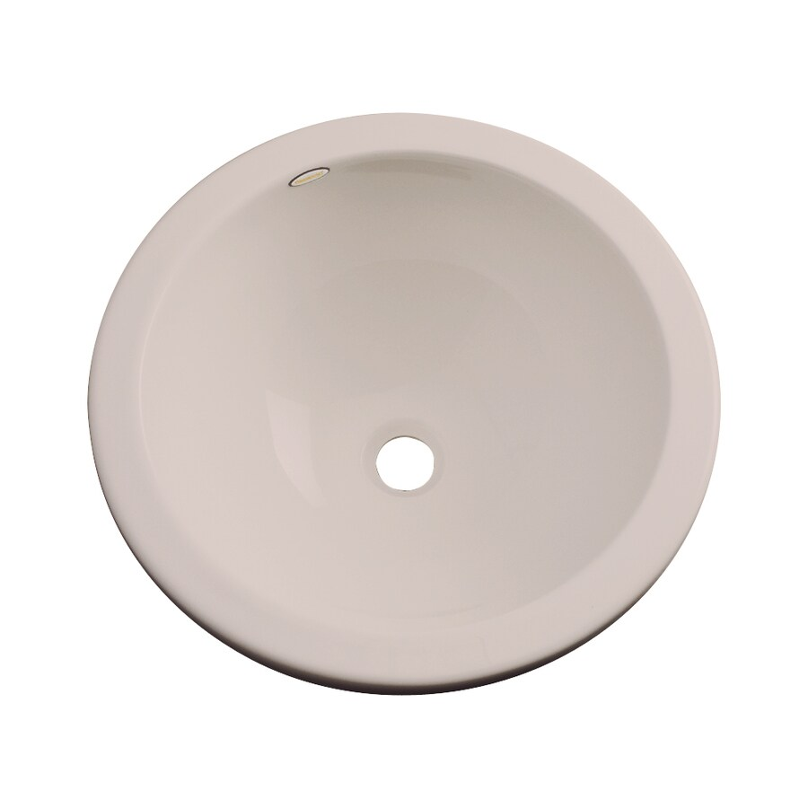 Shop Dekor Perris Fawn Beige Composite Undermount Round Bathroom Sink With Overflow At