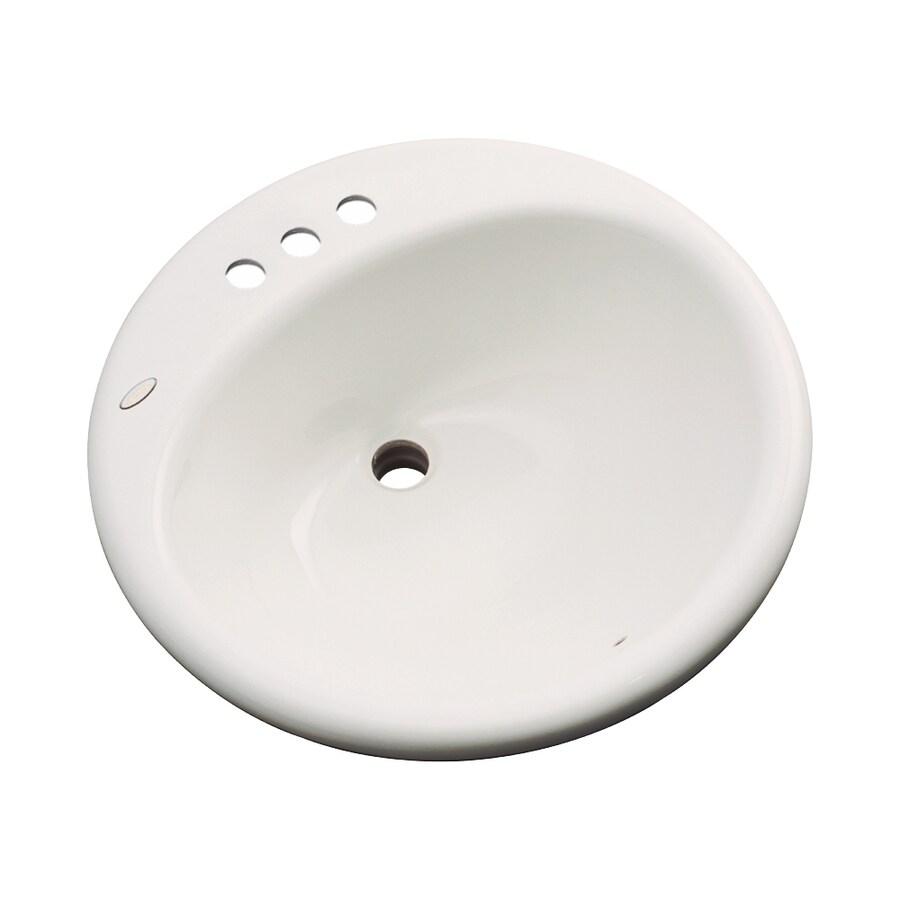 Dekor Newbury Almond Composite Drop-In Round Bathroom Sink with Overflow