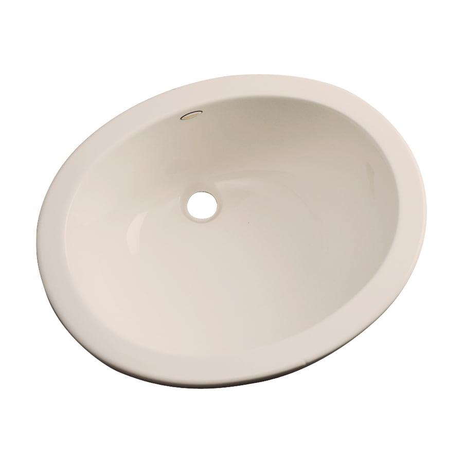 Dekor Ellsworth Candlelight Composite Undermount Oval Bathroom Sink with Overflow