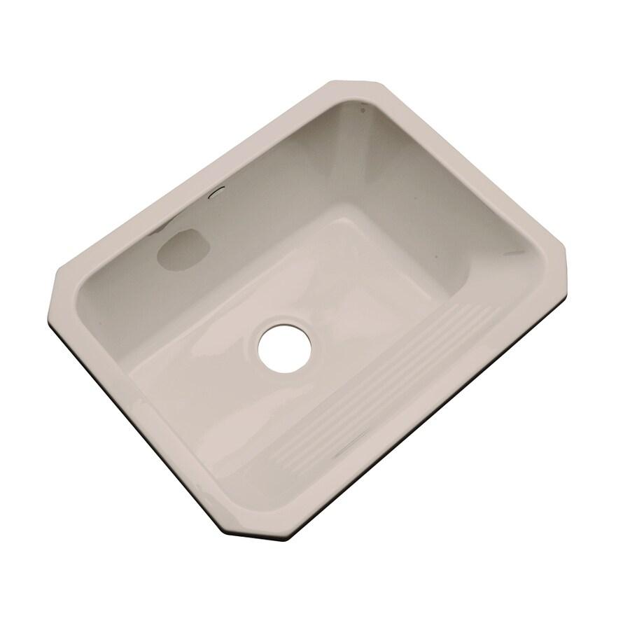 Dekor 19-in x 25-in Fawn Beige Undermount Acrylic Laundry Utility Sink