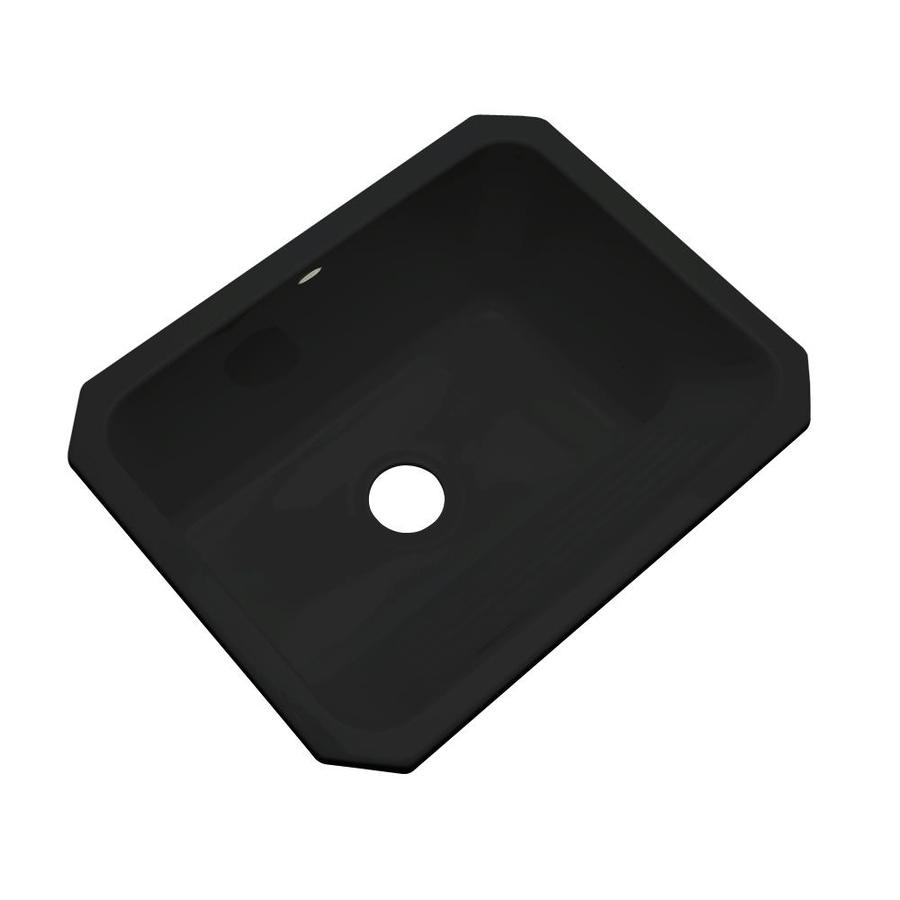 Undermount Laundry Sink : ... in x 25-in Black Undermount Acrylic Laundry Utility Sink at Lowes.com
