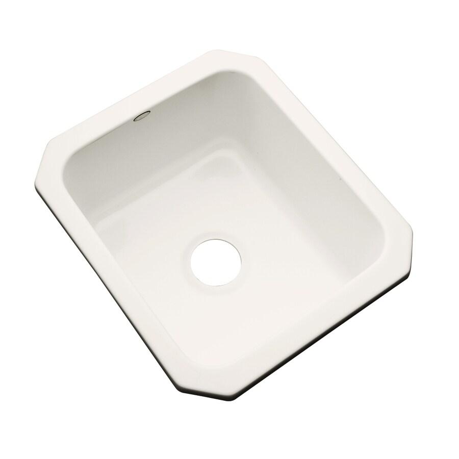 Dekor Biscuit Single-Basin Acrylic Undermount Residential Prep Sink