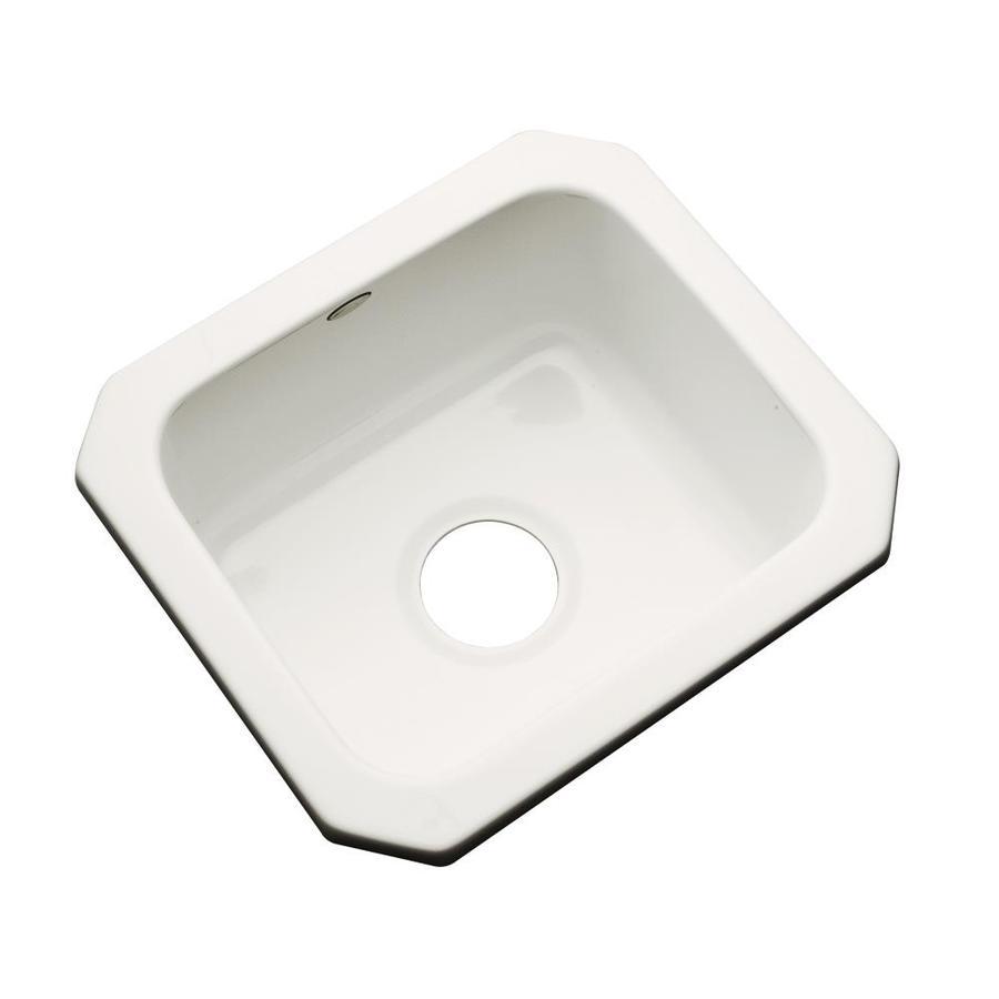 Dekor Biscuit Single-Basin Acrylic Undermount Residential Bar Sink